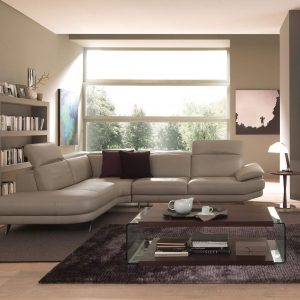 Natuzzi Editions Leather Living Room Furniture One Ten