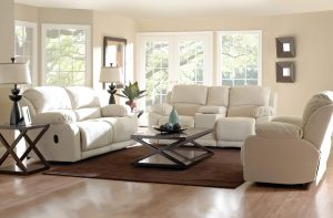 Klaussner Living Room Charmed Fabric Sectional Sofa & Big Chair