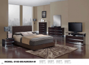Global Furniture Aurora Wenge Brown Bedroom Set
