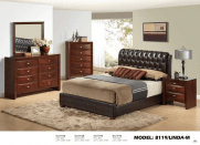 Brown/Merlot Linda M Global Furniture Bedroom Set