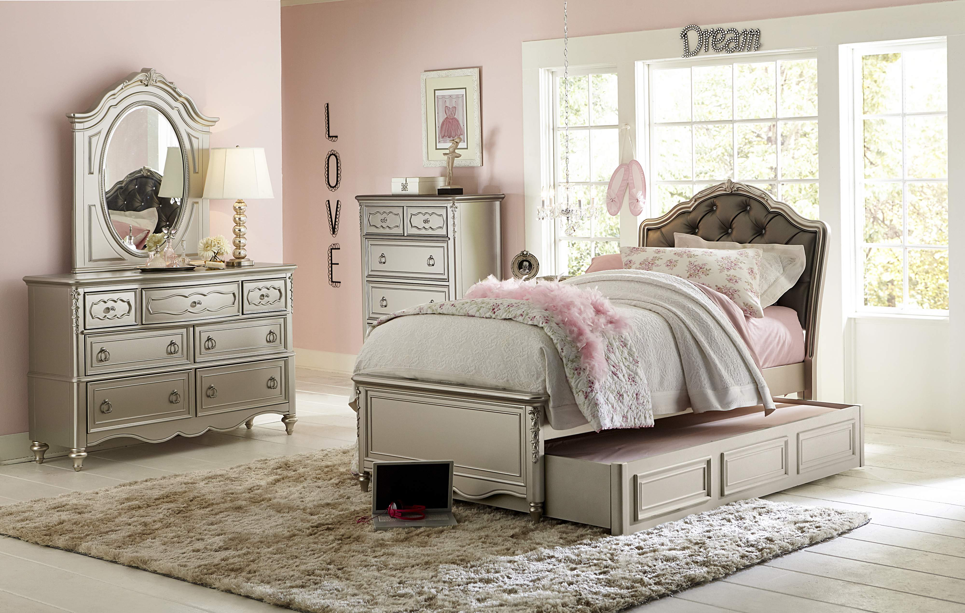 Girls Bedroom Furniture Set by Samuel Lawrence in Long ...