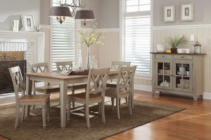Al Fresco Driftwood & Taupe Finish Dining Room Set