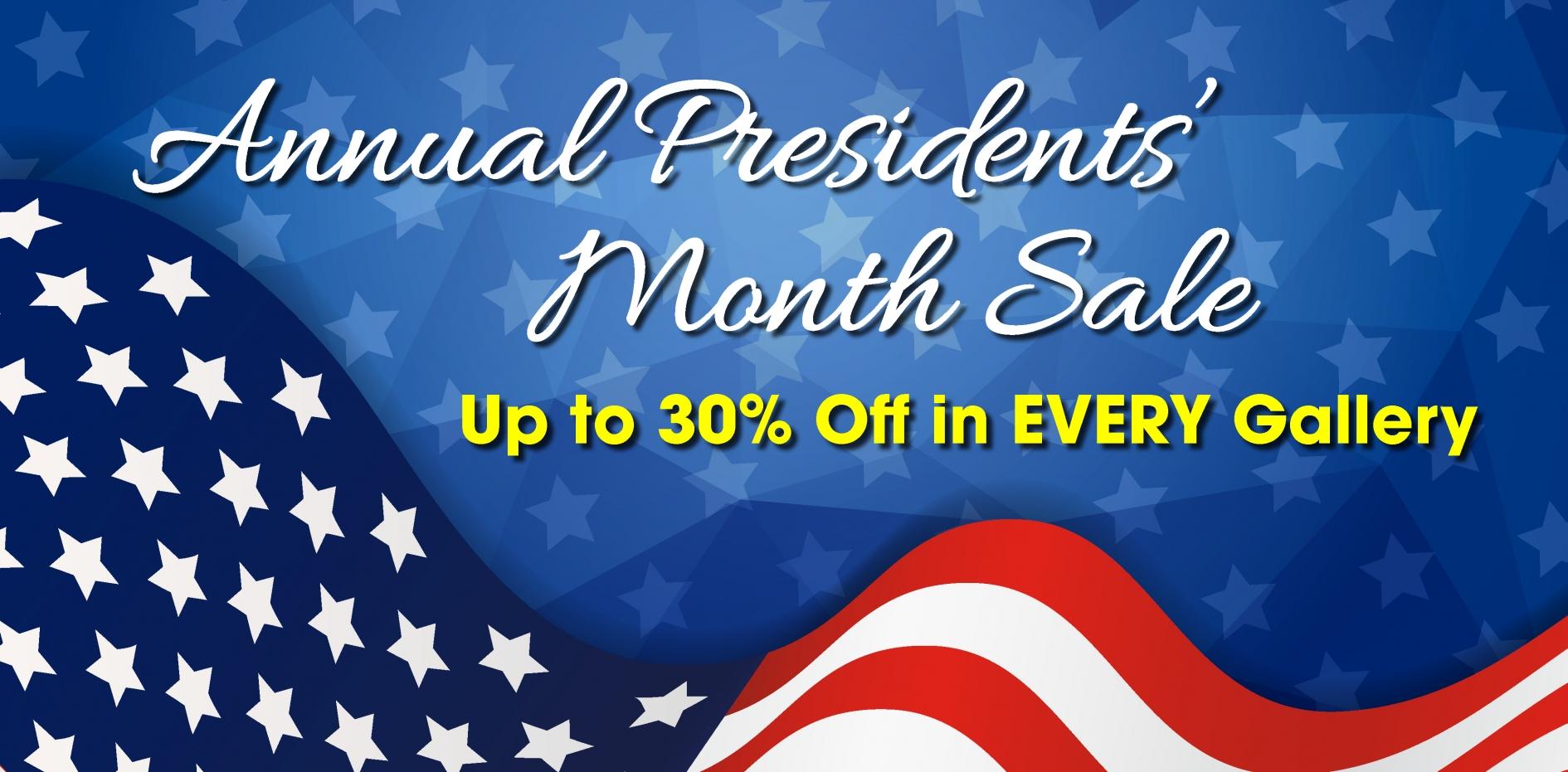 One Ten Presidents Day Banner