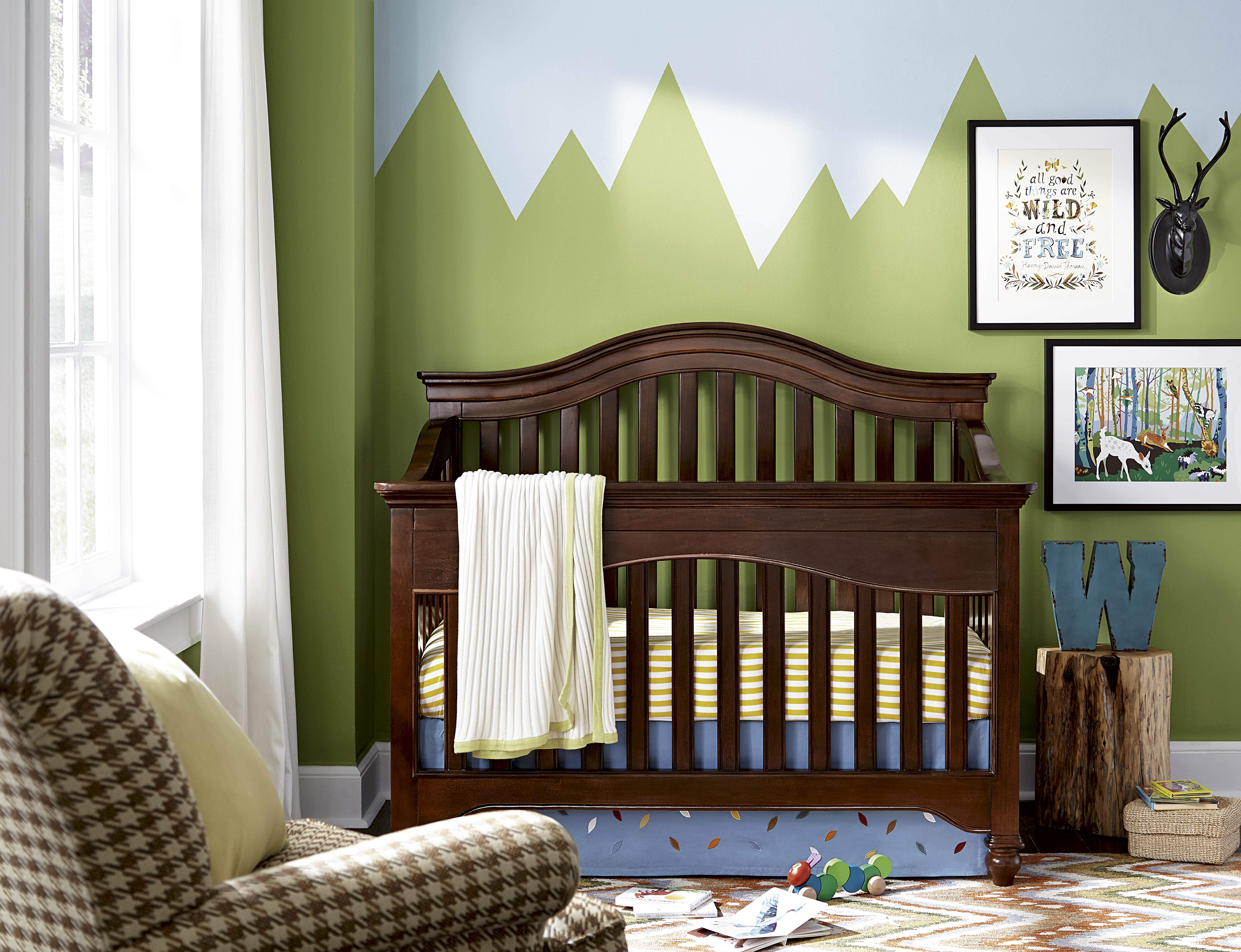 Classic Cherry Stain Wood Crib in Long Island NY