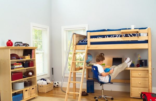 High Loft Natural Wood Bunk Bed Collection for Sale