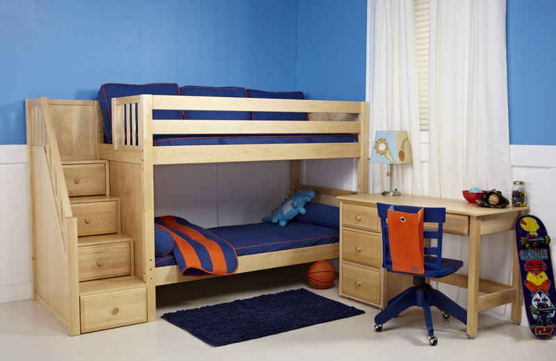 Bunk Bed Natural Wood One Ten Home Furnishings