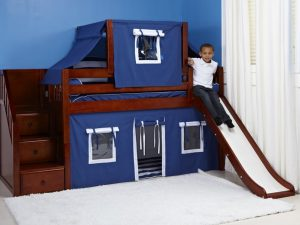 bunk-bed-with-slide-chestnut