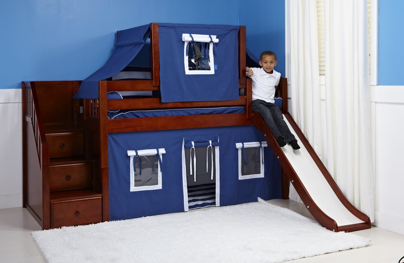 Bunk Bed With Slide Chestnut One Ten Home Furnishings