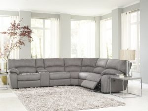 HTL 10195 Reclining sectional in Fabric