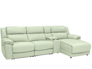 HTL 10490 3 pc sectional with chaise,recliner and console