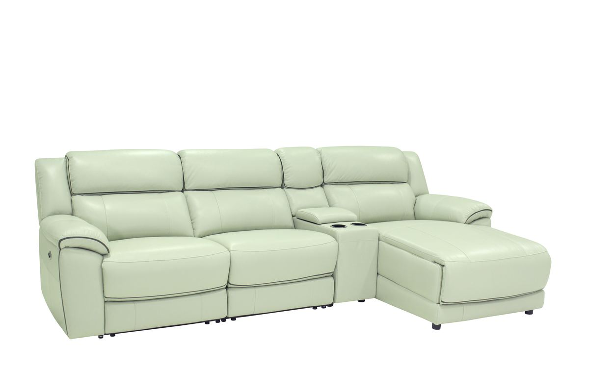 Htl 10490 3 Pc Sectional With Chaise Recliner And Console