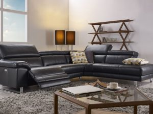 HTL 10565 2 pc sectional w_ recliner and bumper
