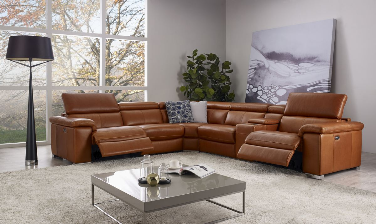 Htl 10736 6 Pc Reclining Sectional One Ten Home Furnishings