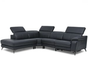 HTL 11380 3 pc sectional with recliner and bumper