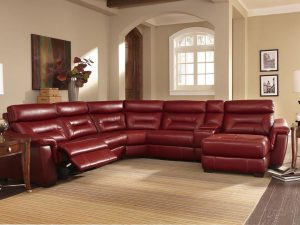 HTL 9578 6 pc sectional with recliner and chaise