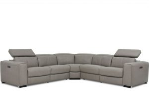 HTL A0136 5 pc sectional with power headrests and recliners