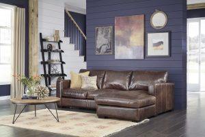 Colebrook Brown Sectional Sofa Long Island