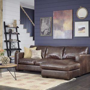 Colebrook Brown Sectional Sofa Long Island