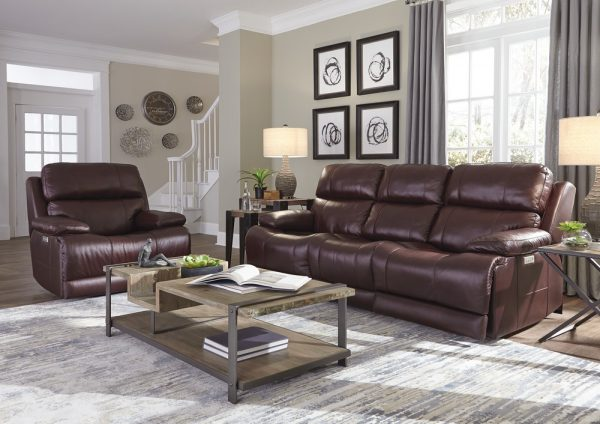 Kenaston Brown Leather Couch & Recliner Set for Sale in Farmingdale NY