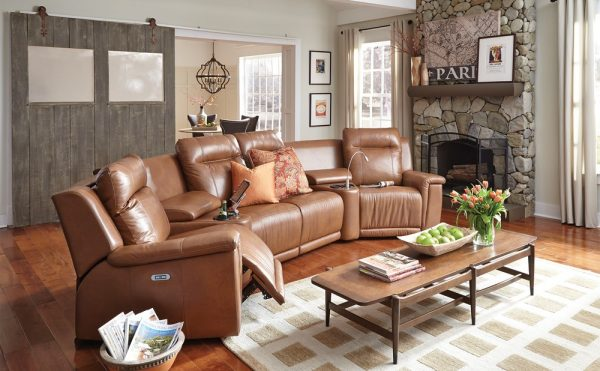 Brown Riley Recliner Couch for Sale in Farmingdale NY